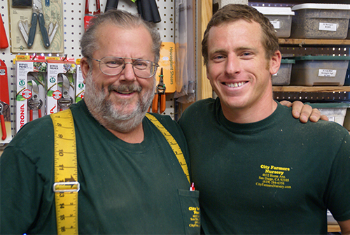 Farmer Bill and his son Sam