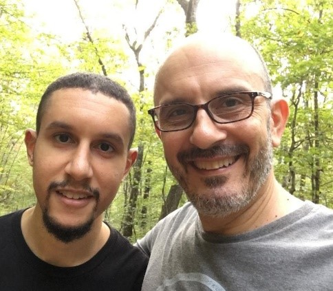 """Naveed and I on one of our nature walks, aka """"insight development meetings."""""""
