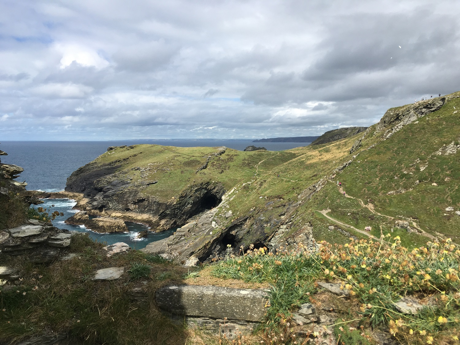Merlin's Cave, Tintagel Castle, Great Circle Route Guided Walks & Gardens