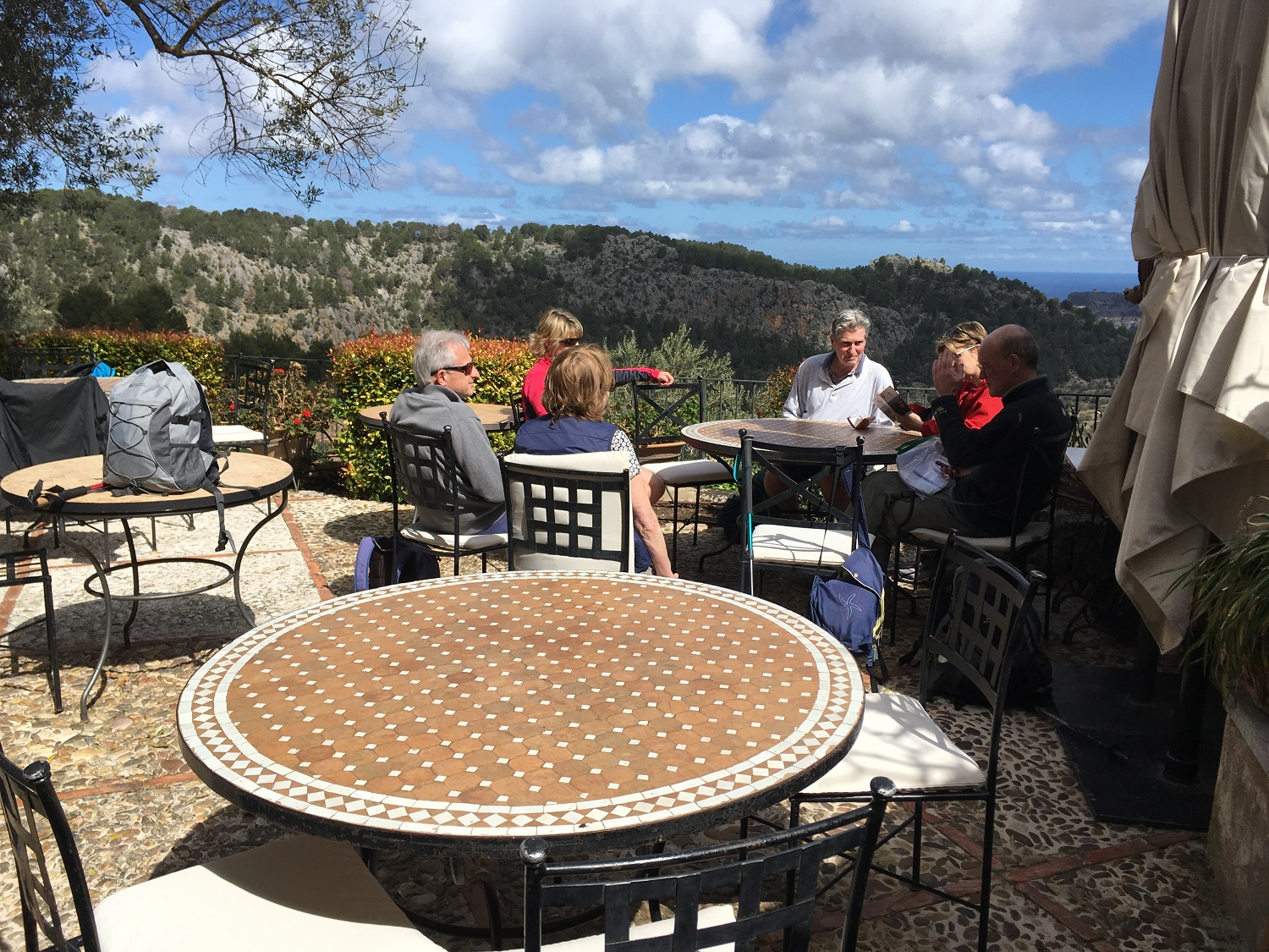 Mountain Top Cafe along the Trail, Great Circle Route, Mallorca Walks