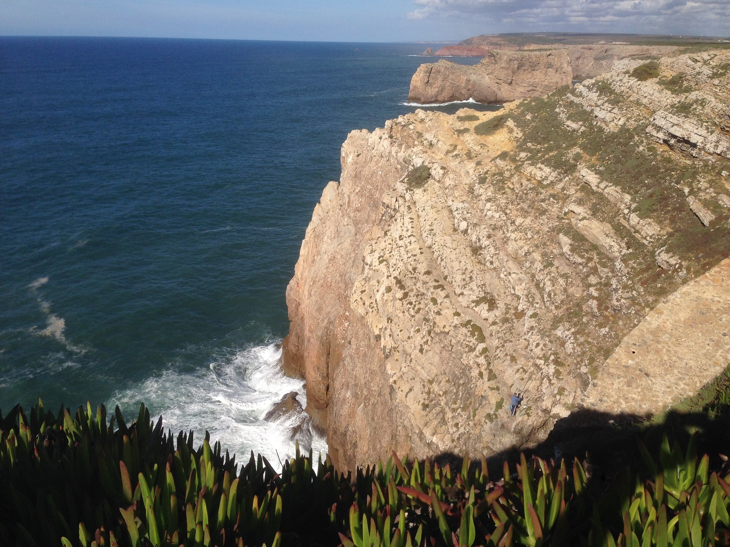 Fisherman on the cliff edge, Algarve Walks, Great Circle Route
