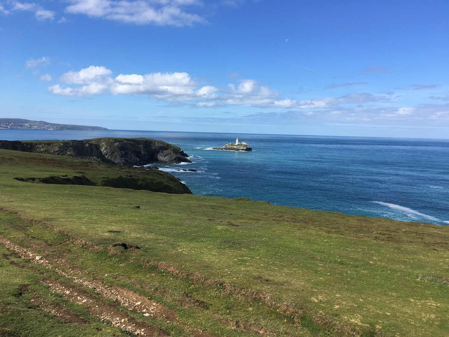 Great Circle Route, Cornwall & South West England Walks & Gardens, Godfrevy Lighthouse