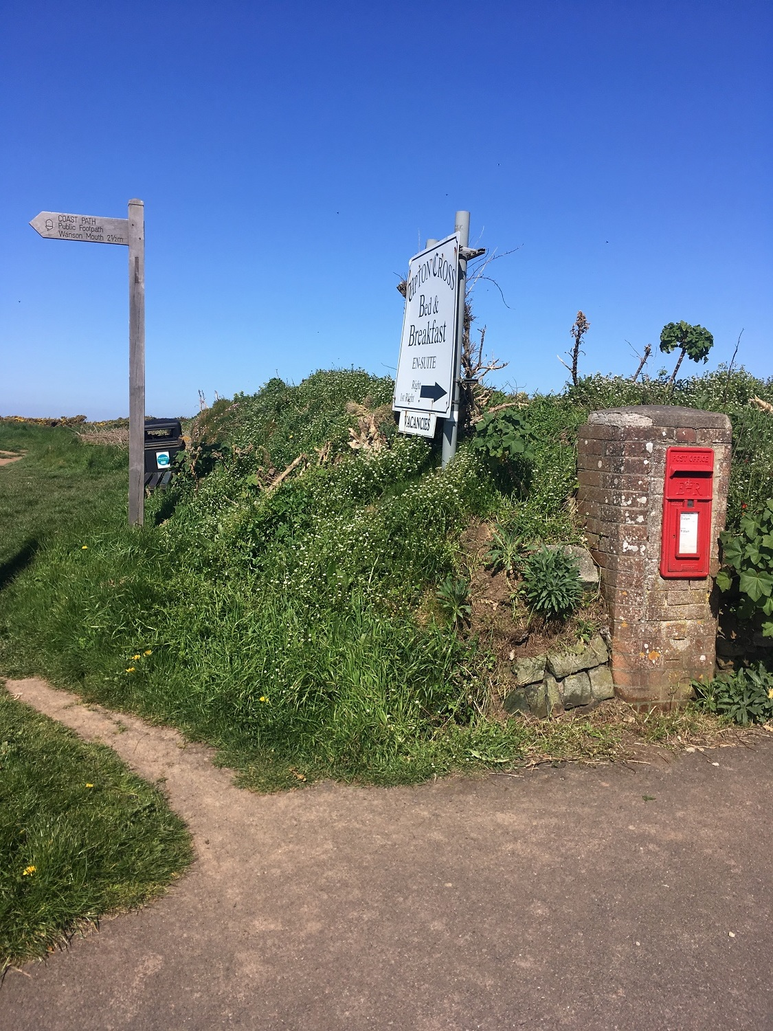 Great Circle Route, South West England Walks & Gardens, Signage & Post Box Along the Trail