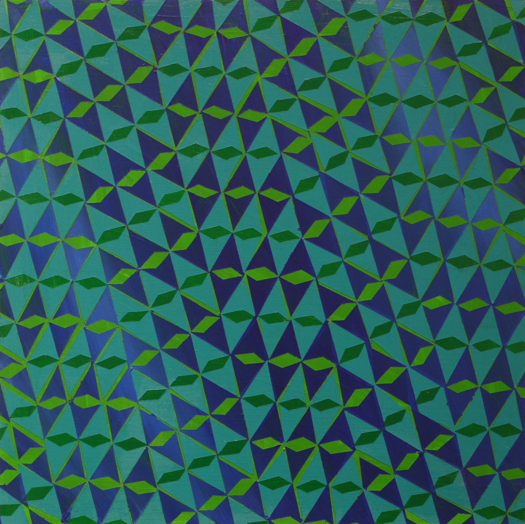 """#57 (2014) Acrylic on Panel, 12""""x12"""""""