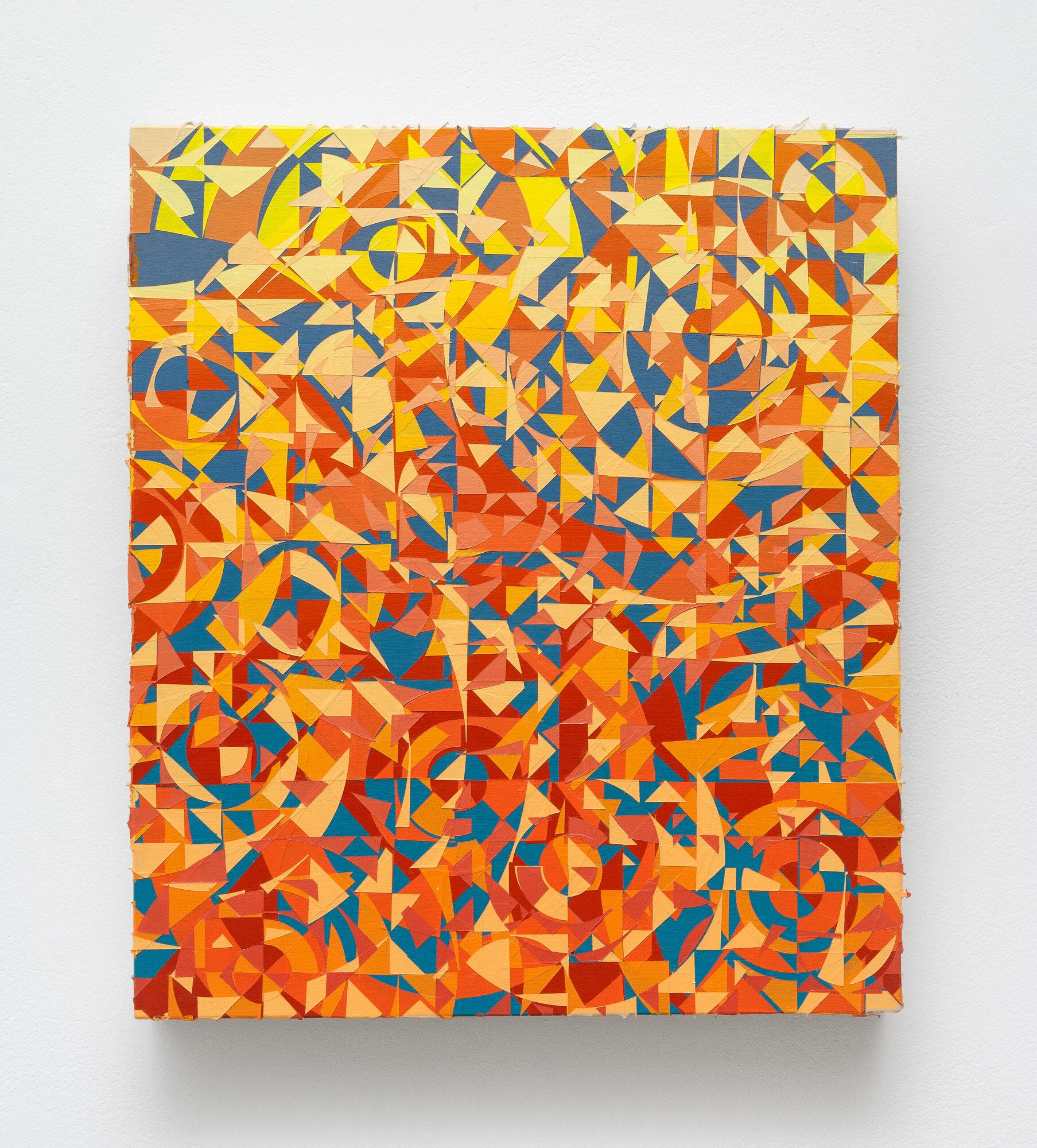 """212 (Handful of Pebbles) 2019, Acrylic on Panel, 15""""x13"""""""