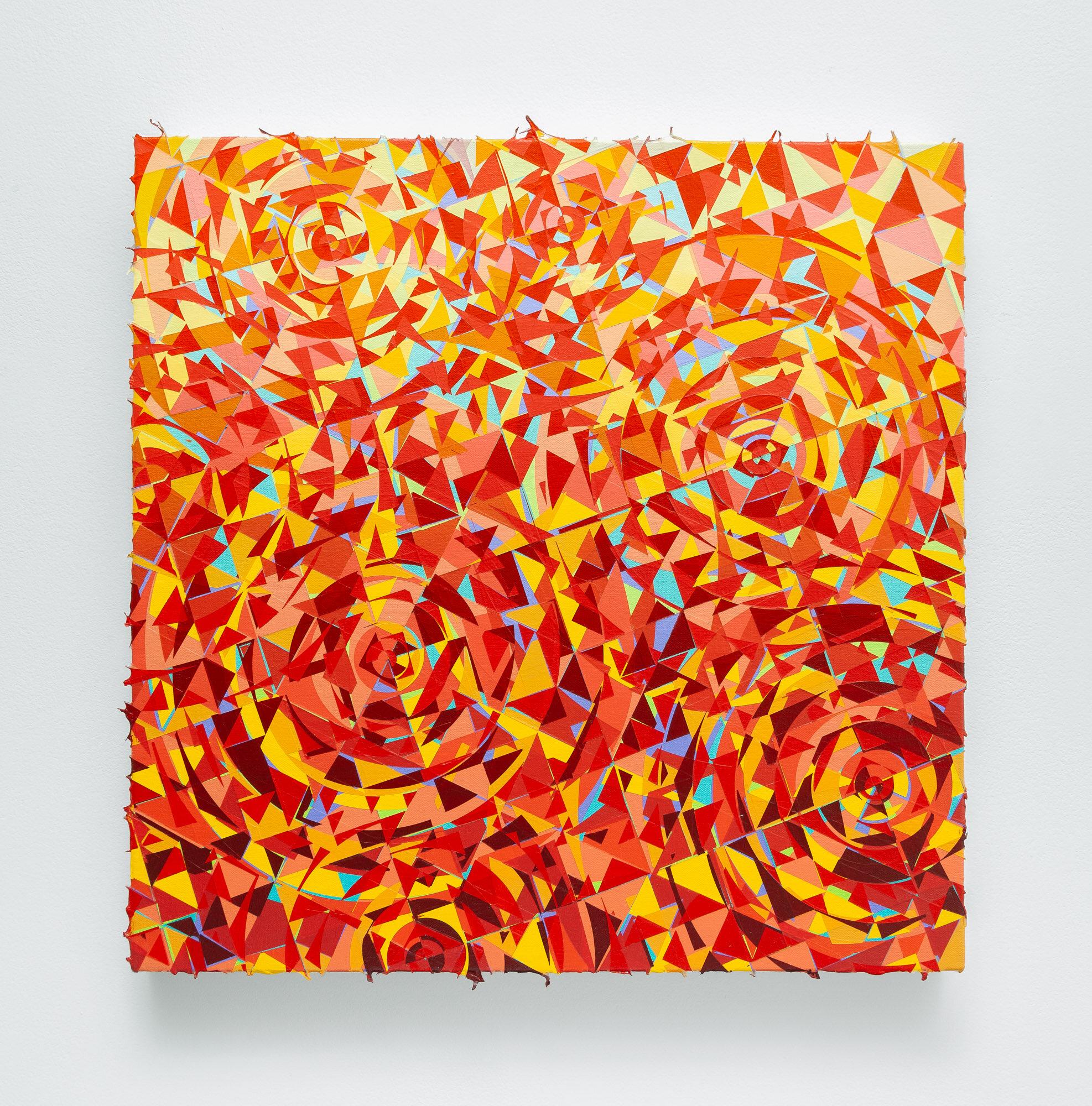 "214 (Harmonizer) 2019, Acrylic on Canvas, 20""x20"""