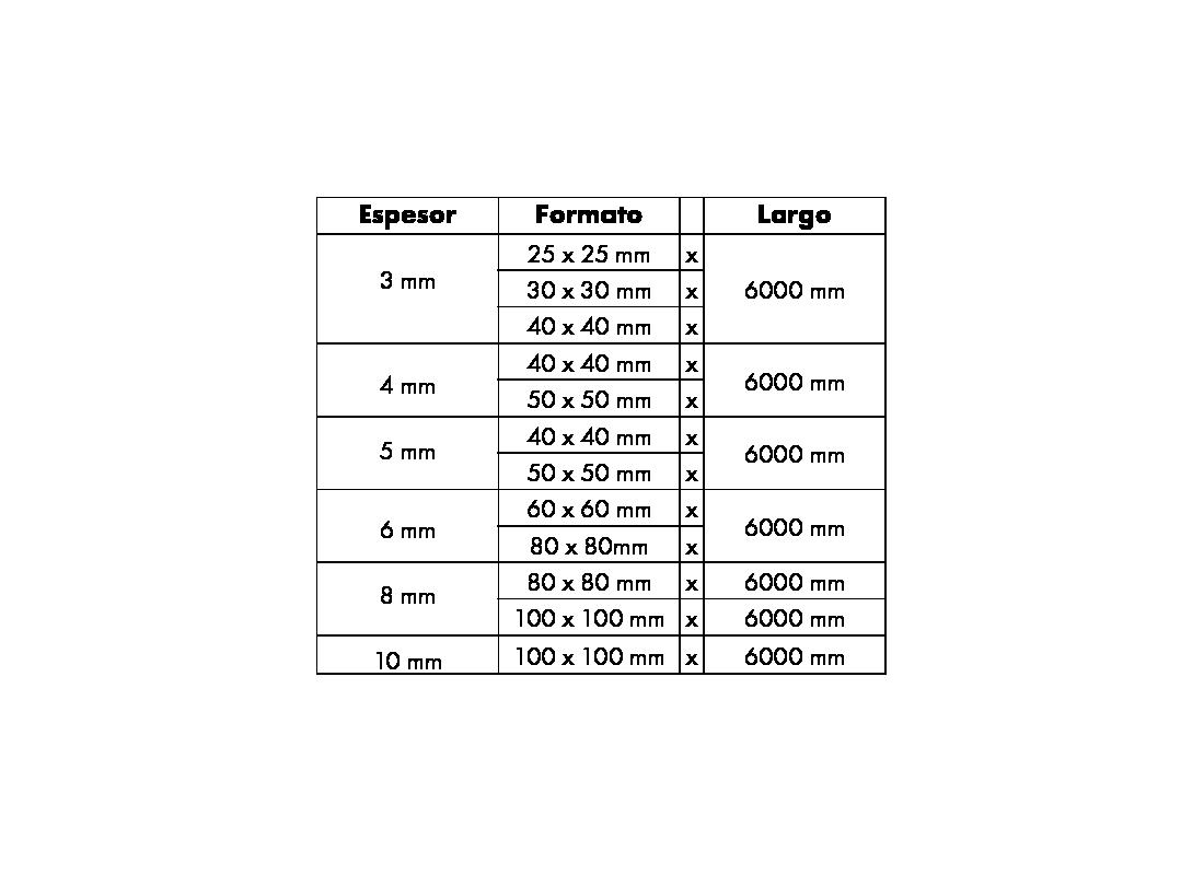 Calidad 316L - Se presenta en los siguiente formatos.