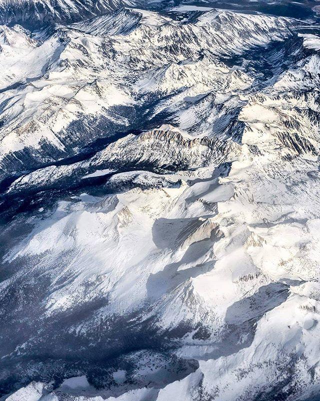 Window   Aisle. Snowy Sierras are 👌  #sierranevada #aerialphotography #mountains #winter #snow