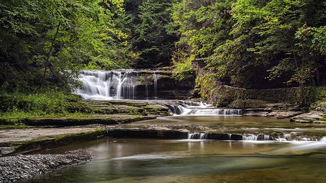 What a nice waterfall  #waterfall #fingerlakes #upstateny #longexposure #hiking