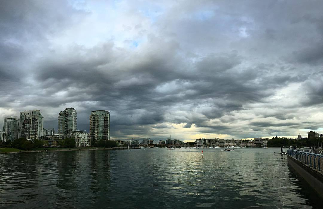 storms, then light (at Vancouver, British Columbia)