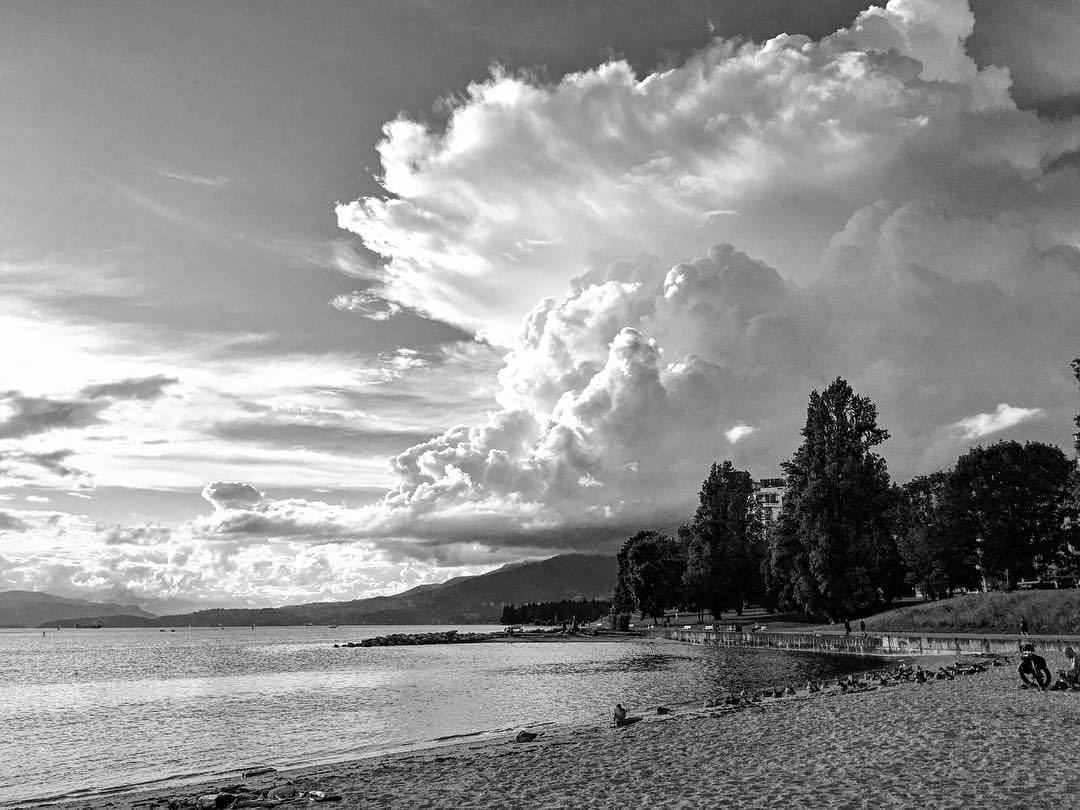 clouds putting on a show (at Sunset Beach - English Bay)