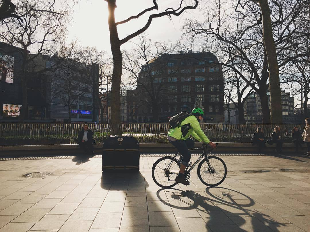 morning commute (at Leicester Square)