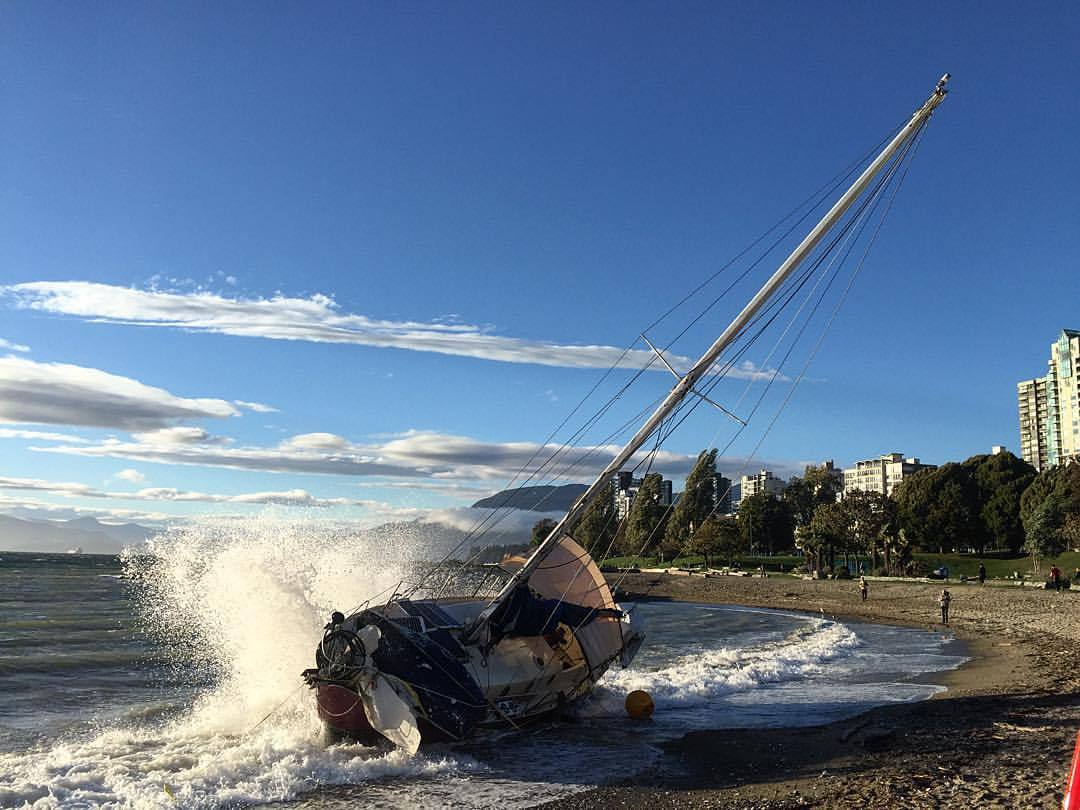Windy days…. Last fall. (at Sunset Beach)