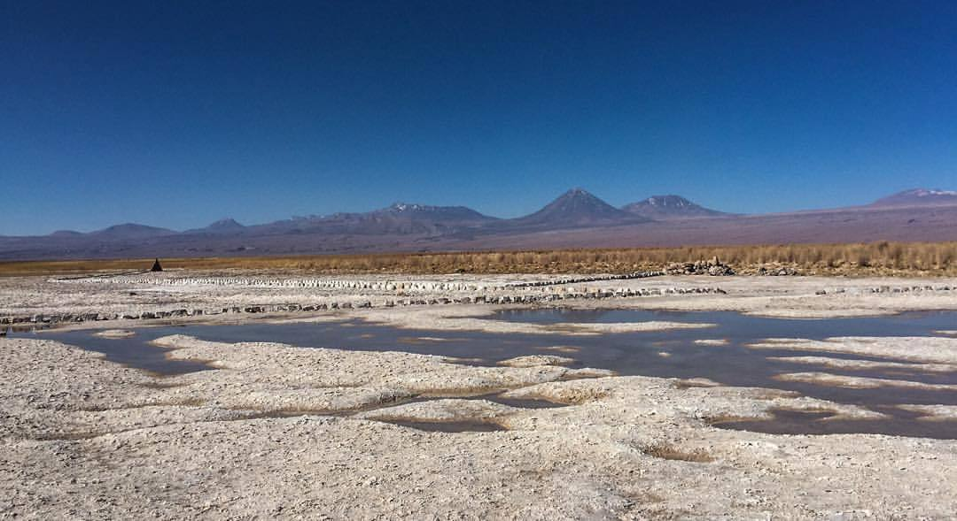 A view. From a salt lake.