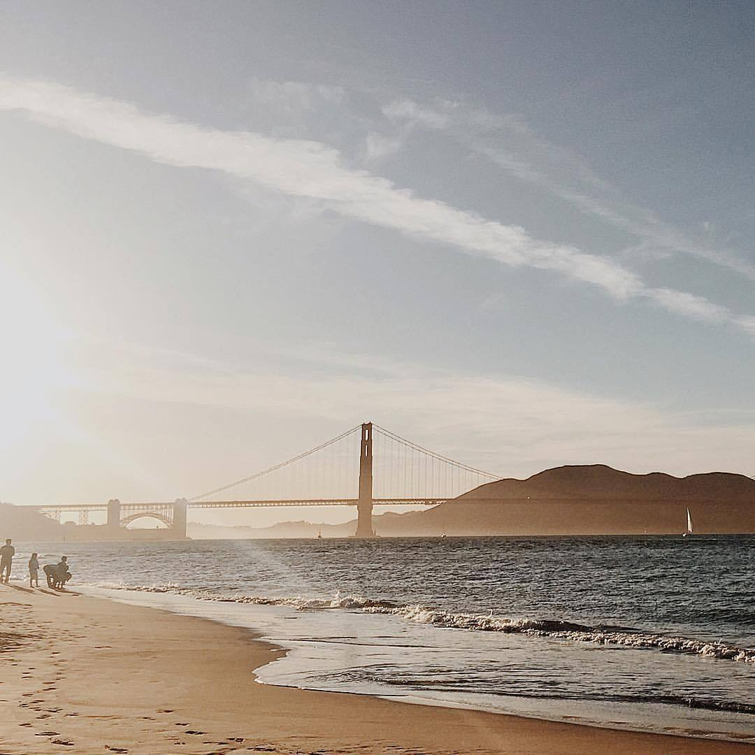 Golden State of mind. (at Crissy Field Beach)
