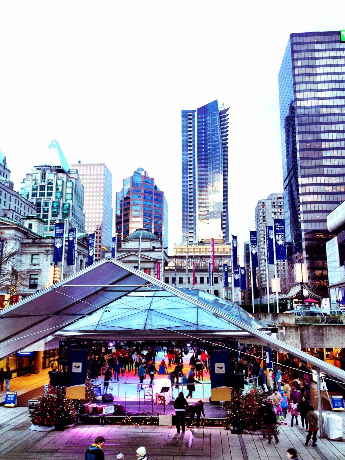 Happy New Year! at Robson Square – View on  Path .