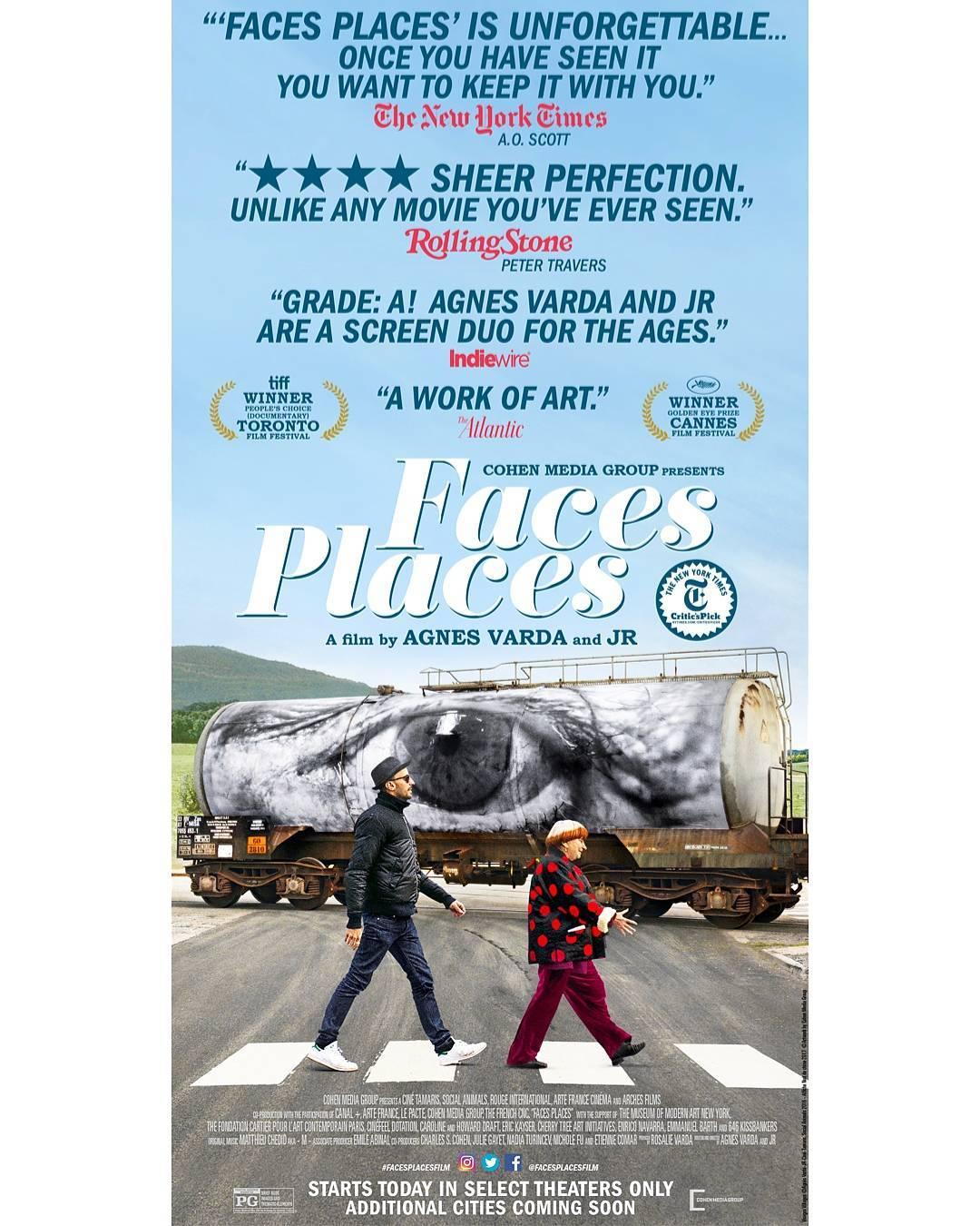 """""""Face Places"""" (2017), dir. by JR,Agnes Varda"""
