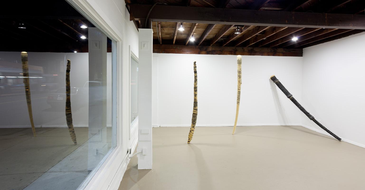 "installation view: ""An All Foam Show"" , ICE Gallery 2012    Photo: Philipp Scholz Rittermann"
