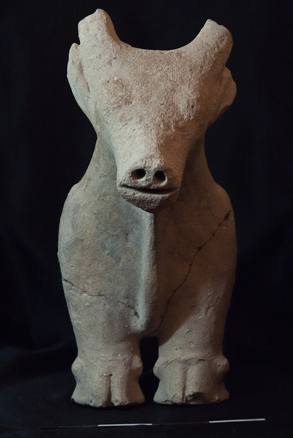 Bull Statue from the Central Courtyard at Khirbat Ataruz (9th century BCE; Photo by J. Park)