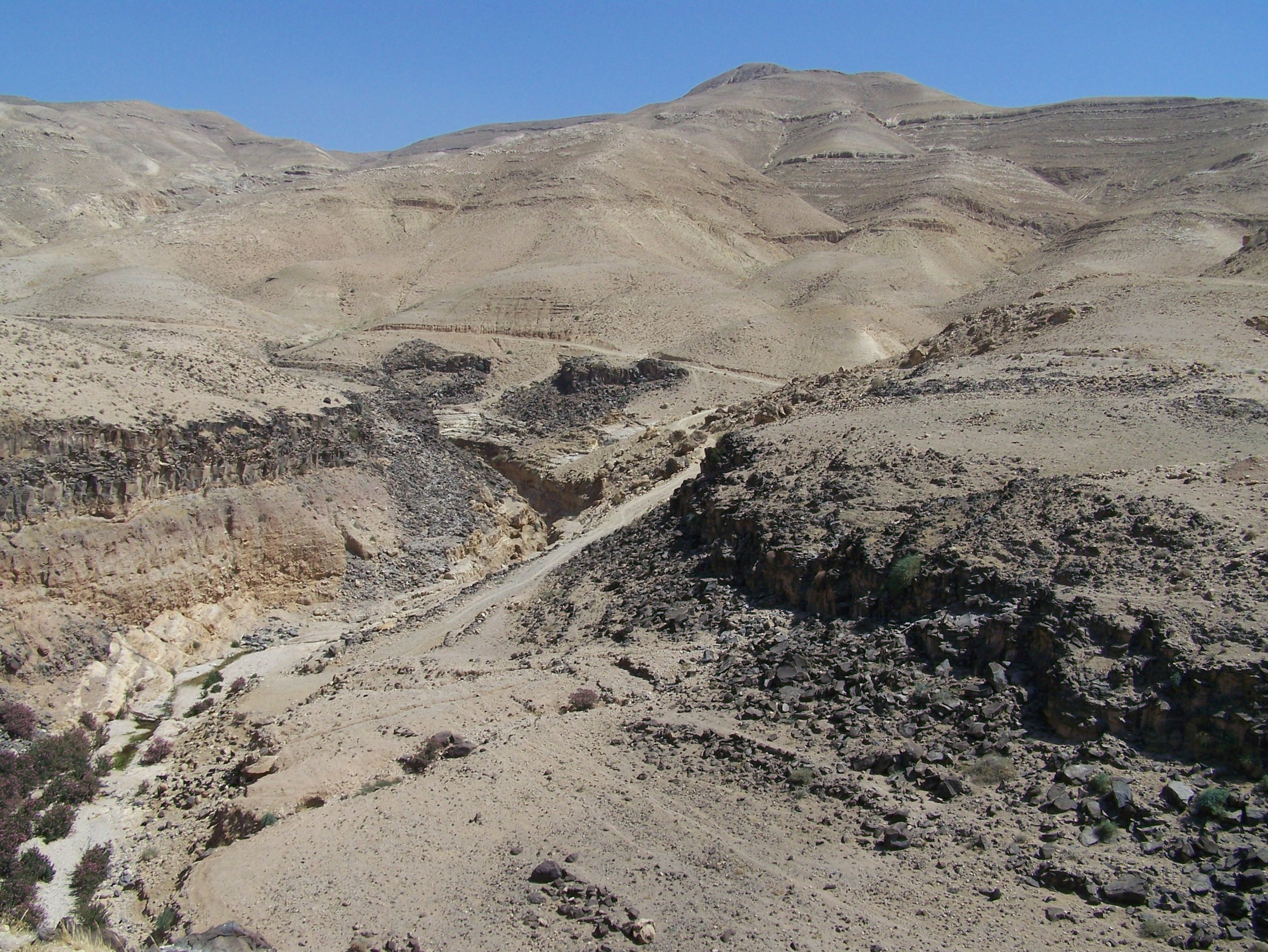 The Wadi Zarqa-Main Crossing, North of Khirbat Ataruz (Photo by C. Ji)
