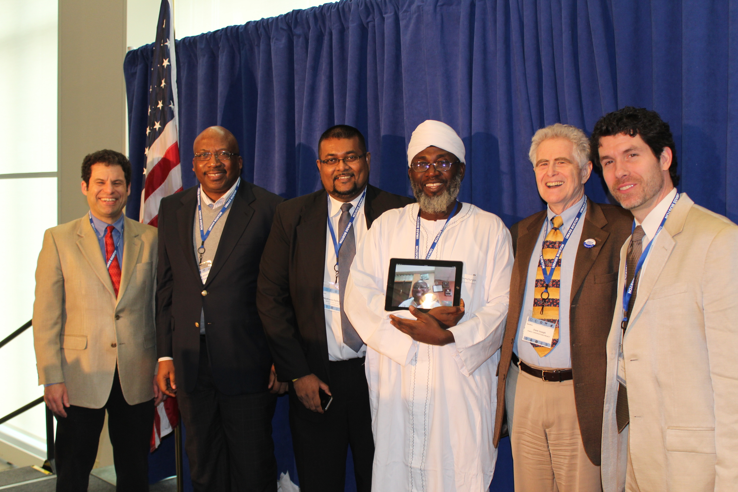 Imam (Dr.) Ashafa at the 2014 Slomoff Symposium, University of Massachusetts Boston