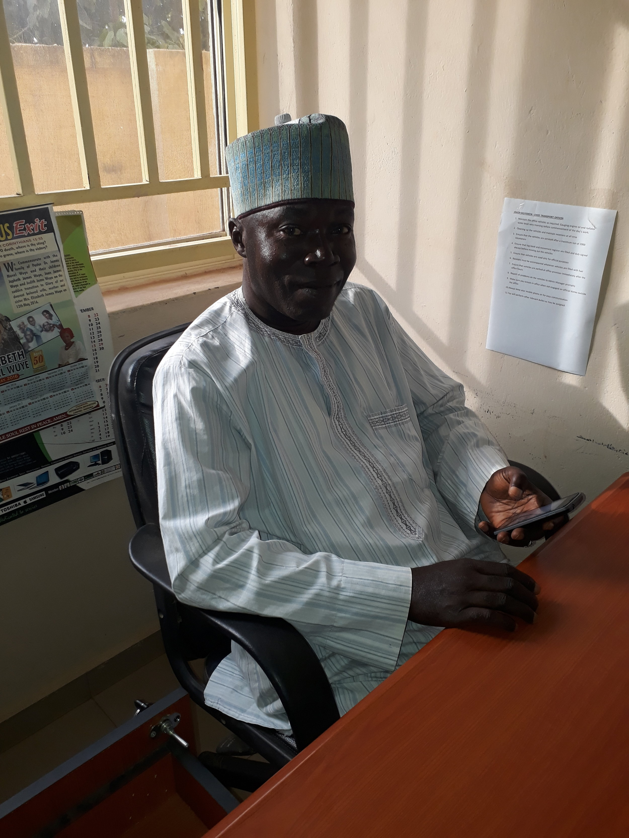 Jimoh Muyideen, Assistant Chief Transport Officer,IMC. Mobile number: 0803-655-3677 or 0817-931-5680. Email: muideenjimoh360@gmail.com-