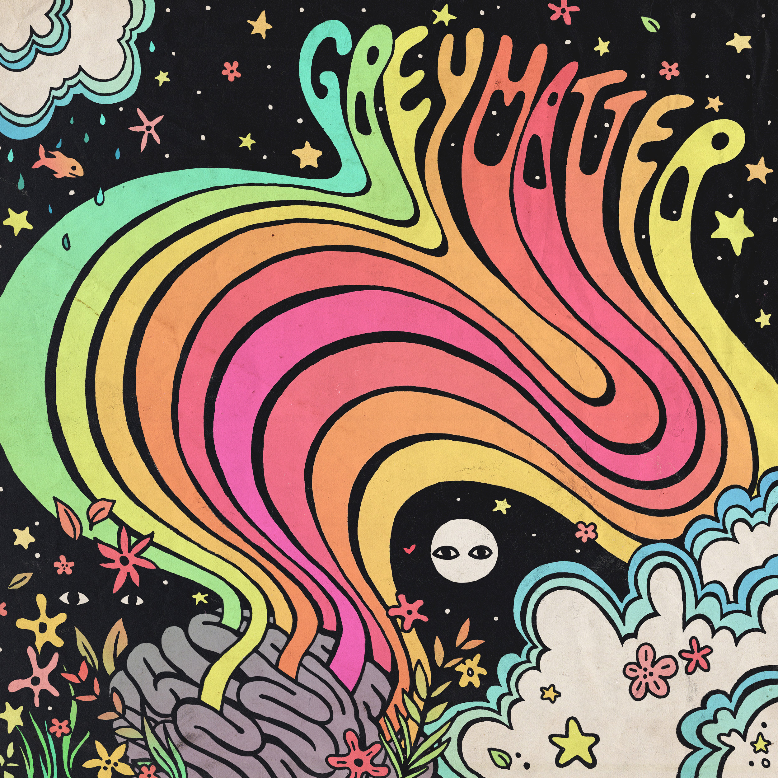 GREY RECORDS  (Saskatoon, SK) - Illustration and packaging design for Grey Records first Grey Matter compilation, featuring artists practicing inclusivity in their respective scene's across Canada. All proceeds from the compilation (released on cassette) went to Girls Rock Camp Winnipeg