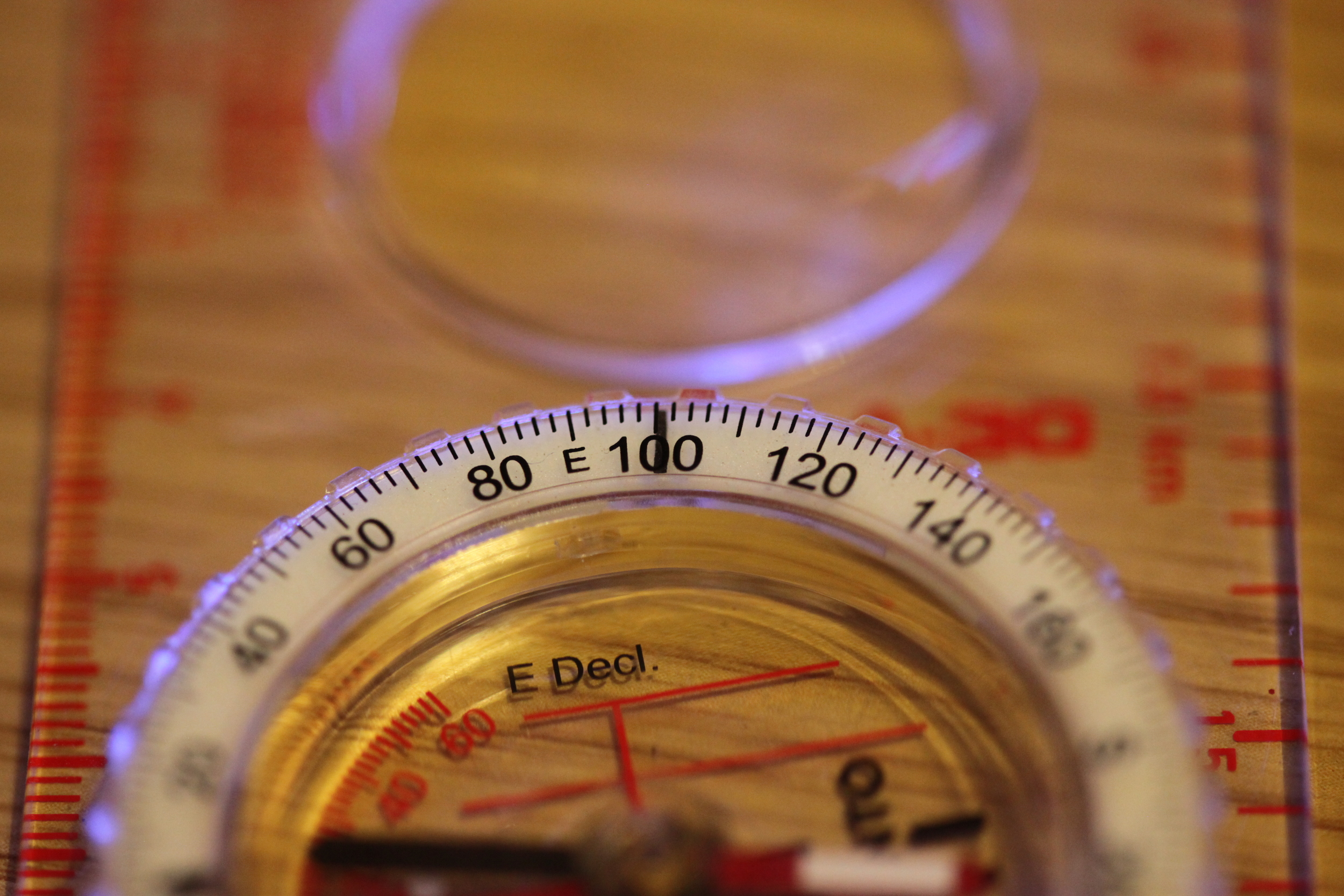 Turn the outer dial to line up on 101 degrees or as close as you an get it!