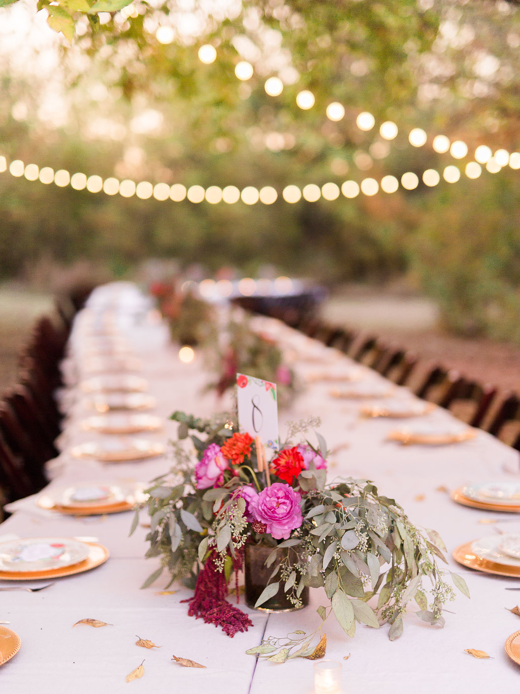 Centerpieces used as table number holders