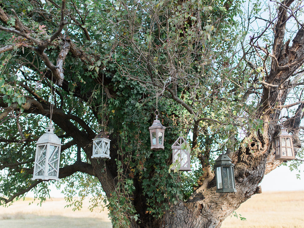 These lanterns were the perfect touch of rustic elegance and simplicity