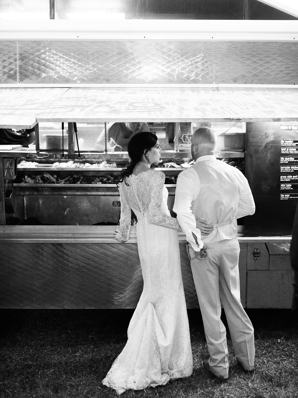 This is one of our favorite pictures! Stephanie and Brian decided to have a food truck cater their event.