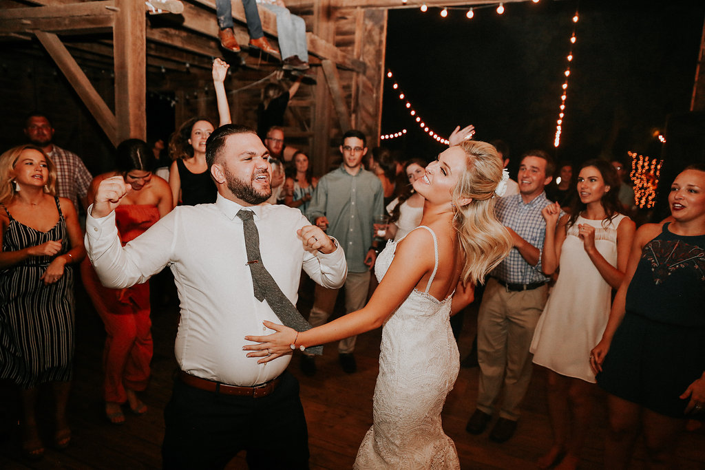 And you can't forget to have a little bit of fun on your wedding tearing up the dance floor!