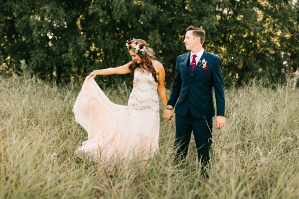 """Thomas and Alexa were a perfect fit for a Barn at The Woods wedding! With an outdoor proposal on their family's ranch, an outdoor wedding was an obvious place for them to say their """"I do's"""". One look at the venue and they knew it was exactly what they wanted!"""