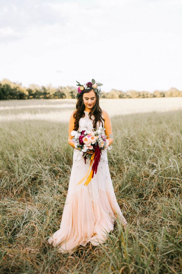 """The couple describe themselves as """"Old Souls,"""" and successfully paired on trend wedding styles with a bit of vintage flair."""
