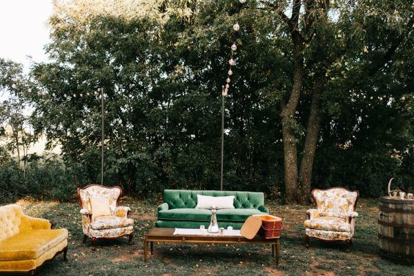 The reception by the barn was rustic and elegant-which we believe is a style that Barn at The Woods does best, (especially alongside amazing vendors like Ruby's Vintage Rentals and Marianne's Rentals!)