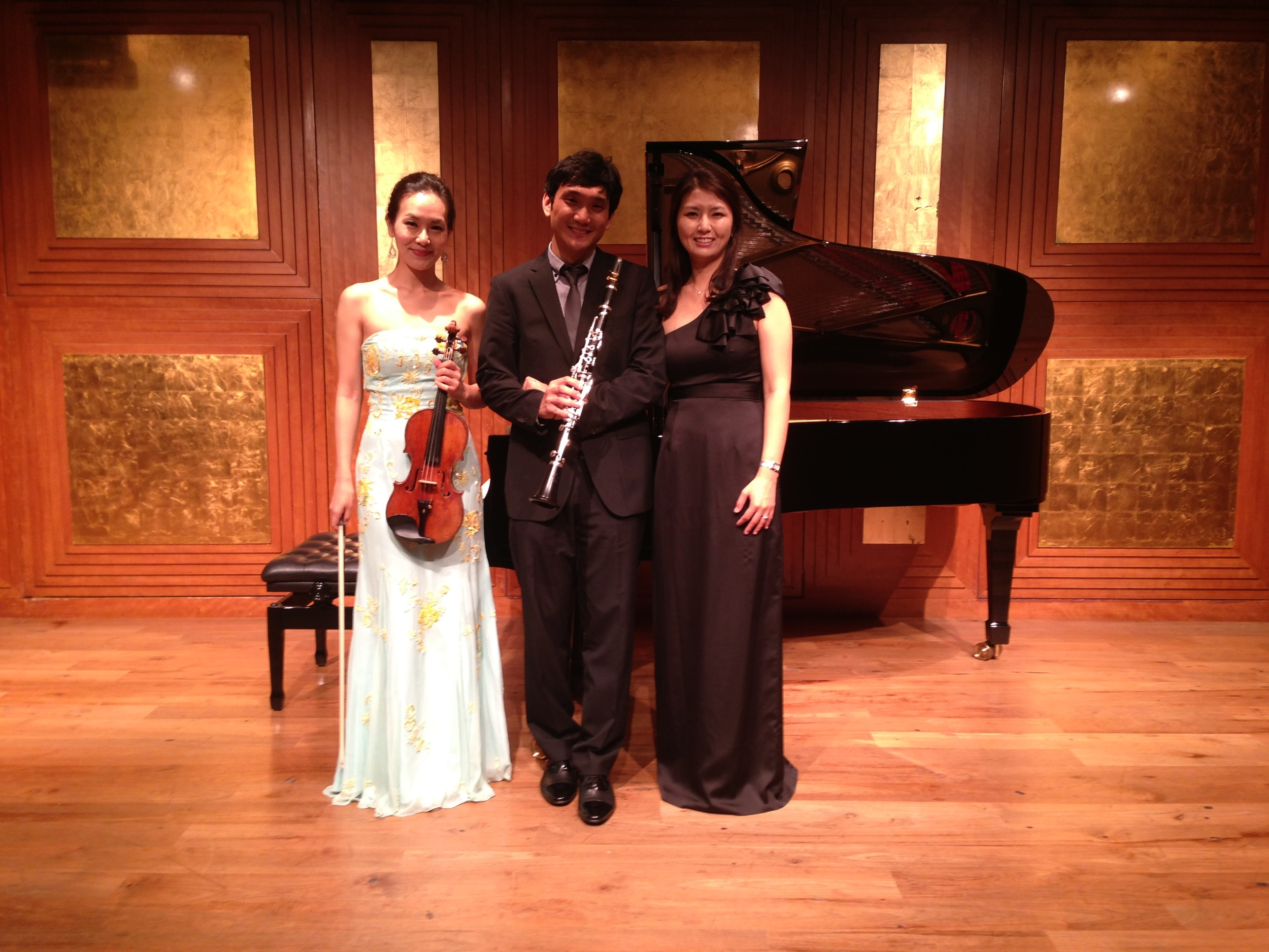 "After the first performance by our ""trio"""