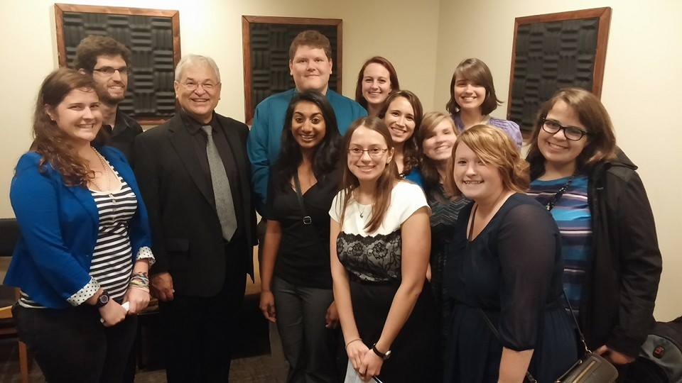 TTU Clarinet Students with David Shifrin