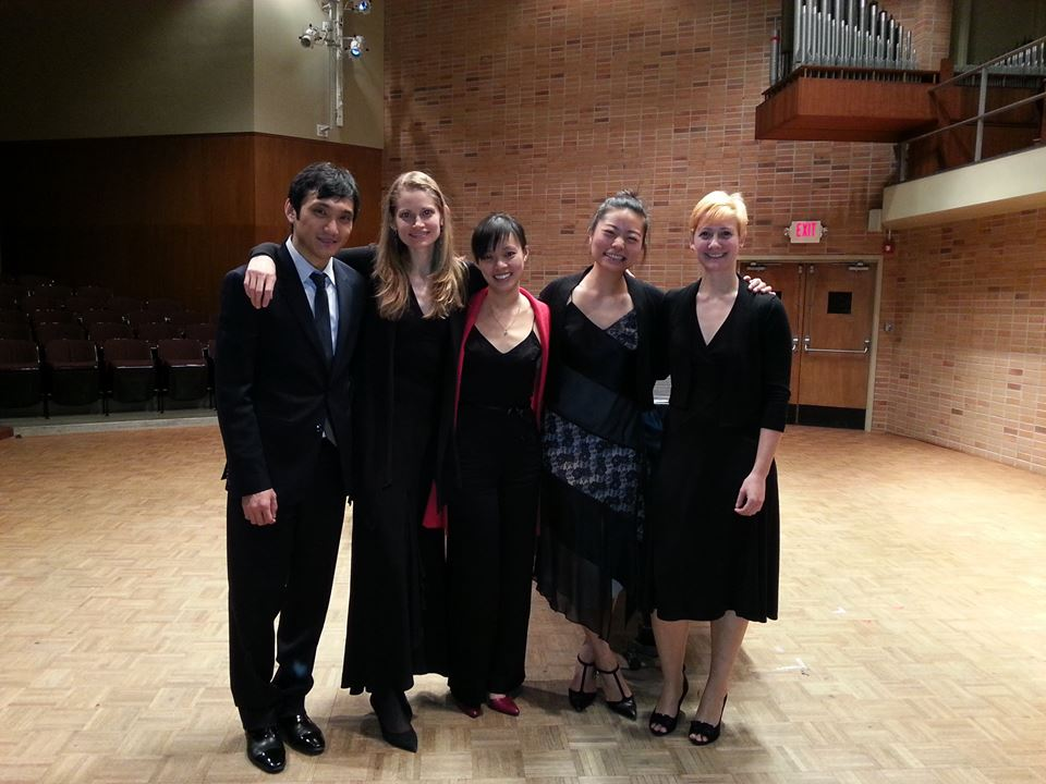 with my delightful Larchmere String Quartet friends!