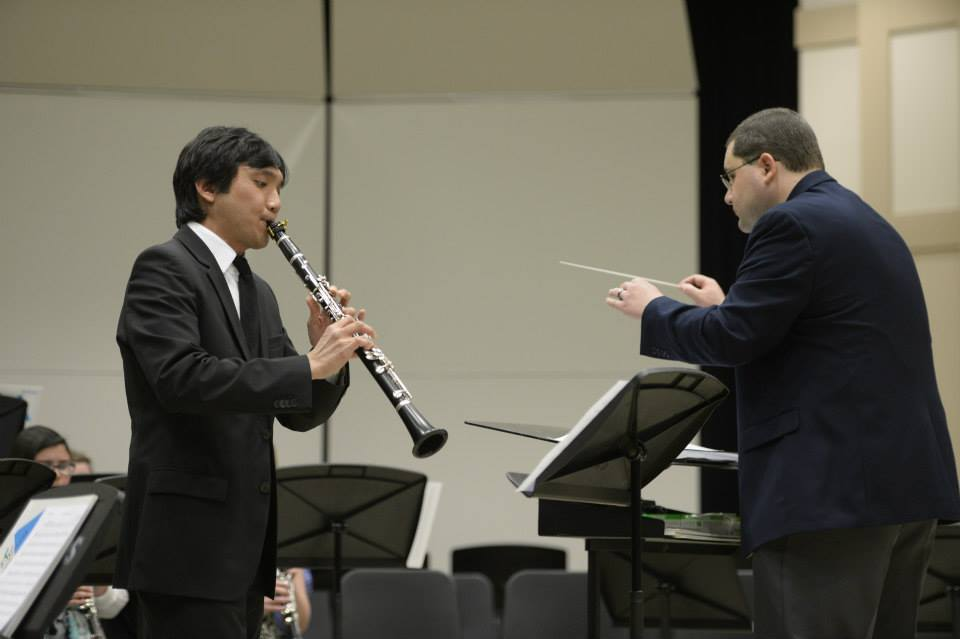 Playing Ciesla's  Fantasia Concerto  with Troy University Clarinet Ensemble