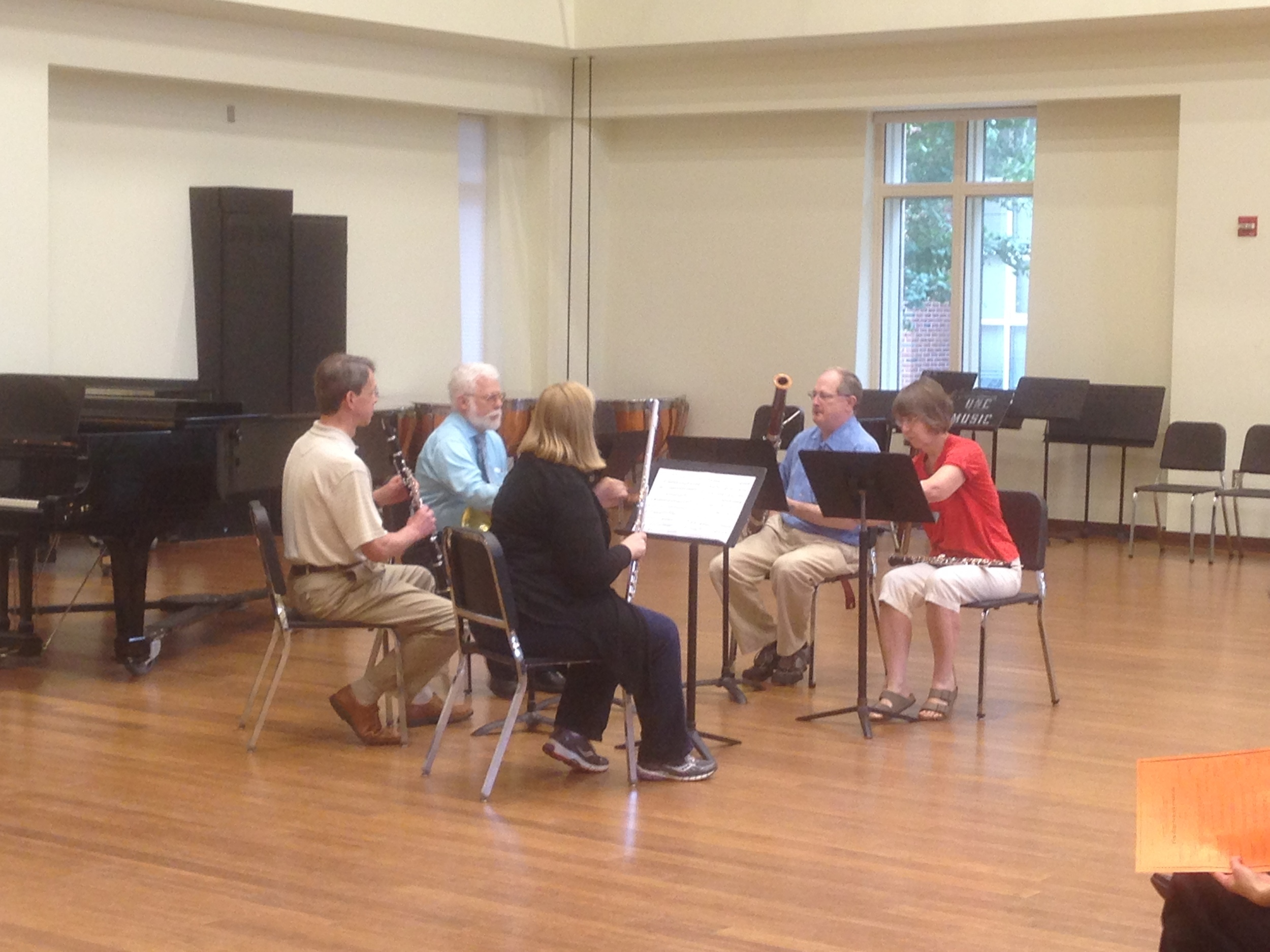 One of the participant ensembles I coached at the workshop