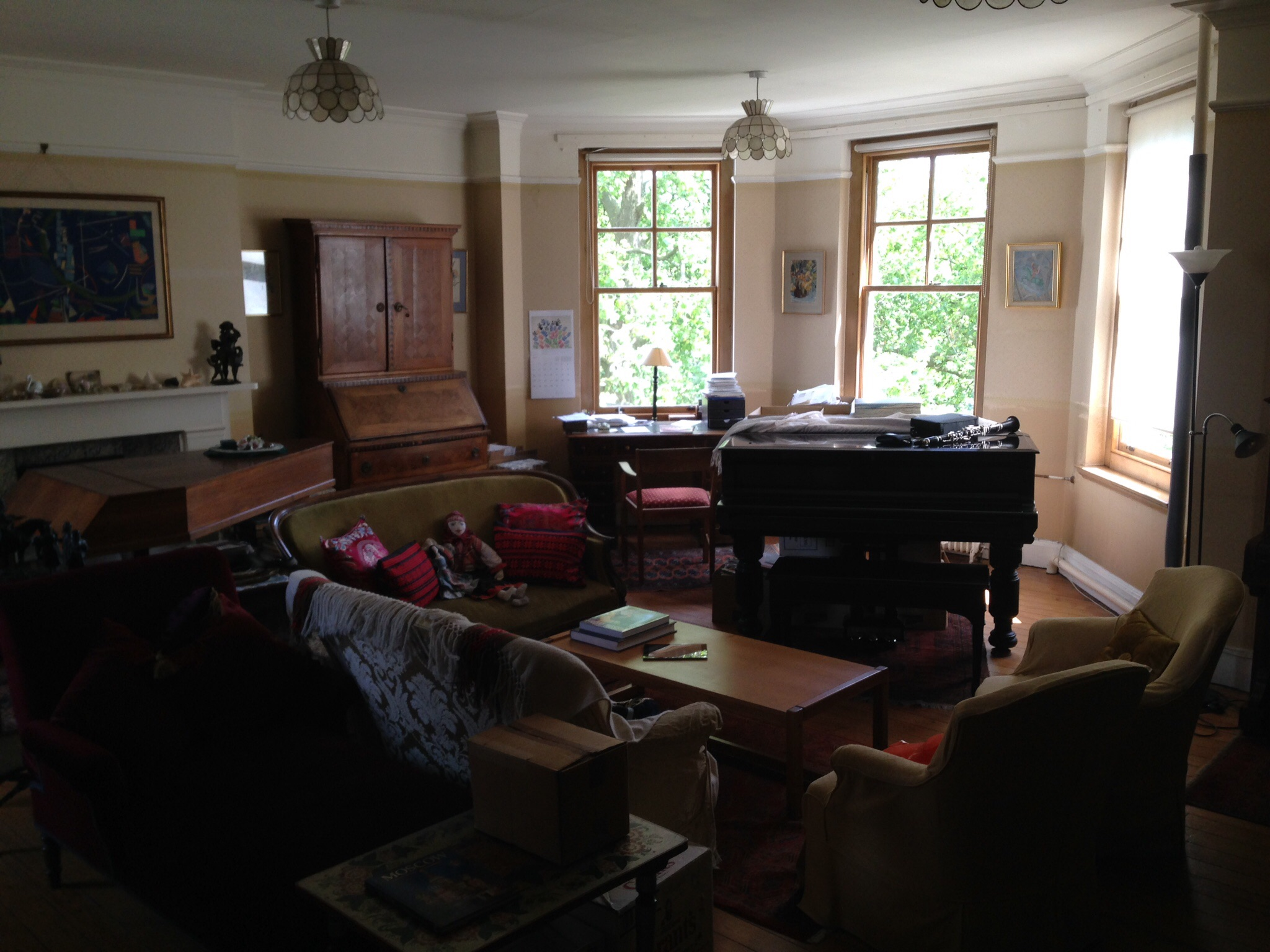 The drawing room in my flat where I got plenty of inspiration to practice and rehearse