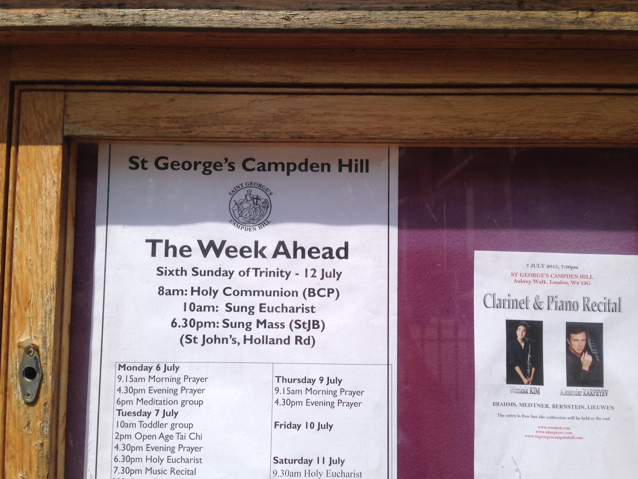 Recital at St. George's Campden Hill