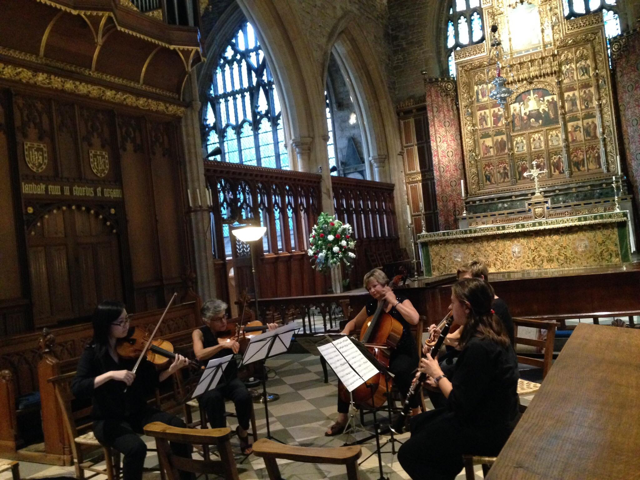 Sarah performing Mozart Clarinet Quintet