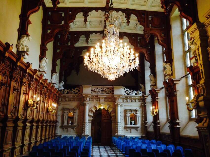 The cocnert venue at the Harlaxton Manor