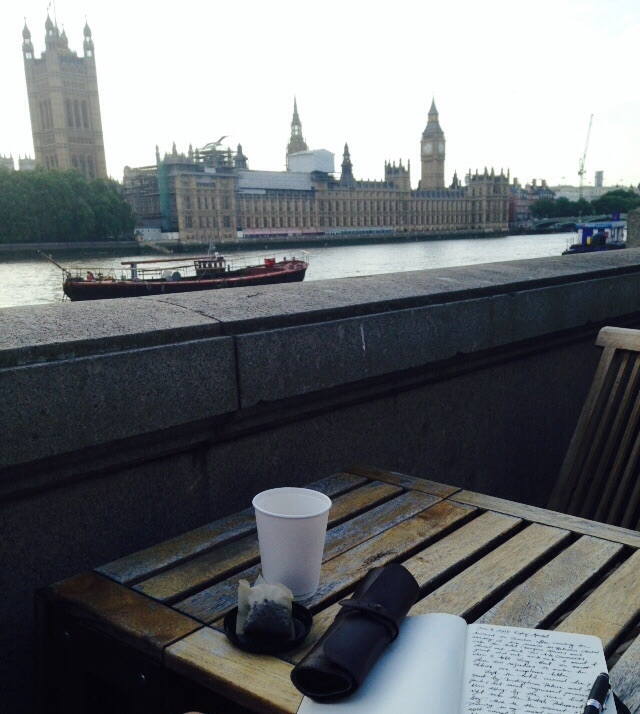 Teatime by the Thames and the British Parliament