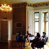TTU student Anjali Sivaainkaran rehearsing Stamitz Quartet at Harlaxton Chamber Music Festival