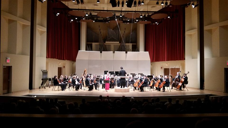 TTU Clarinet Student Michaela Cundari performing Copland Clarinet Concerto with Bryan Symphony Orchestra