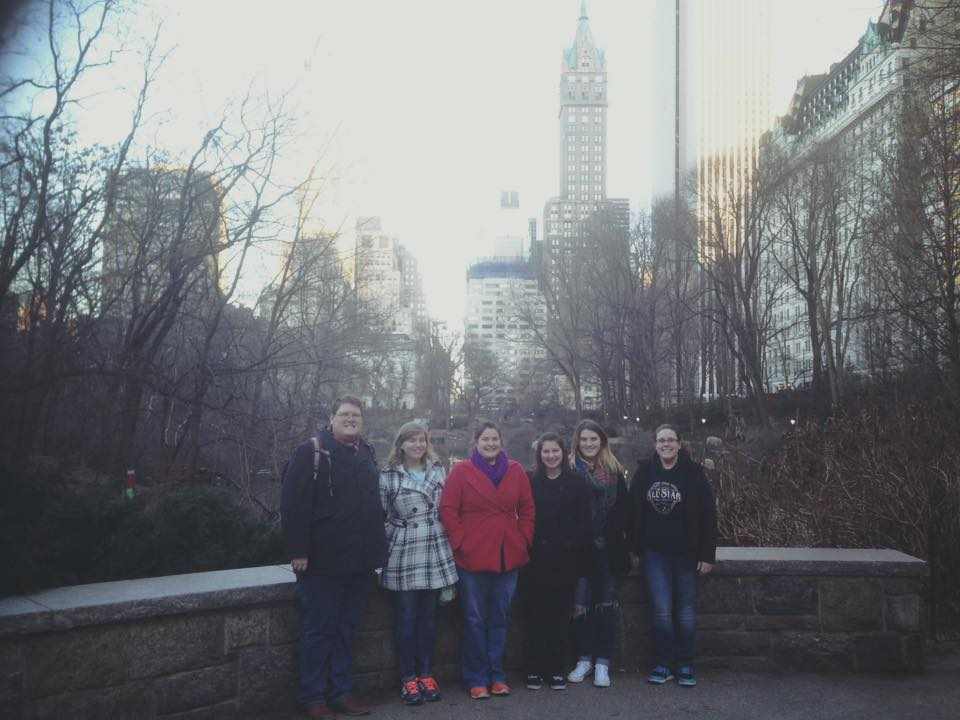 TTU clarinet students at NYC's Central Park