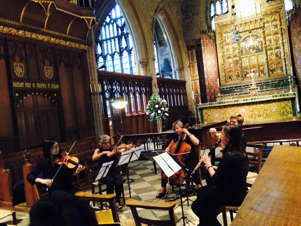TTU student Sarah McMichen performing Mozart Clarinet Quintet at Harlaxton Chamber Music Festival