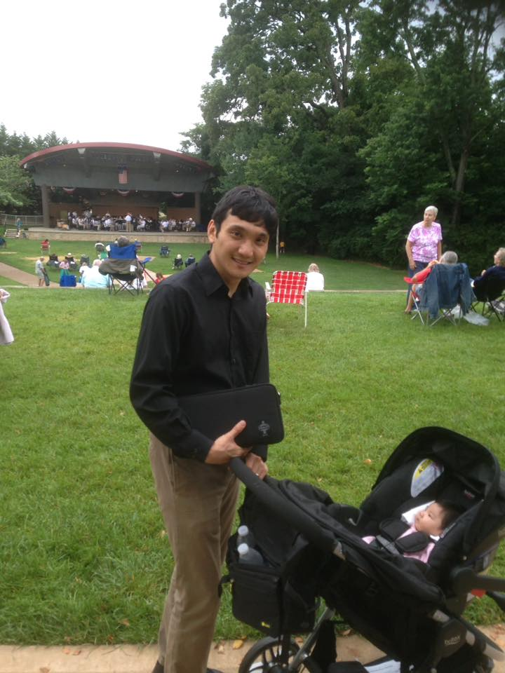 Getting Ready to Play some Artie Shaw at Cookeville's Dogwood Park